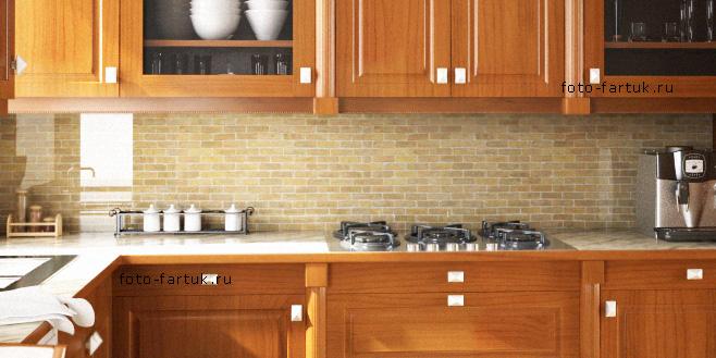 Фартук для кухни из прозрачного или осветленного стекла